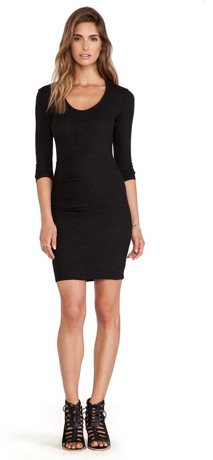 James Perse Skinny Tucked Dress