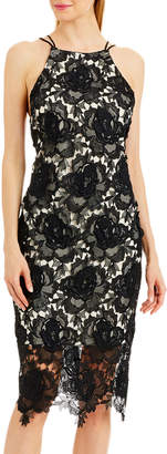Nicole Miller New York Lace Strappy-Back Cocktail Dress