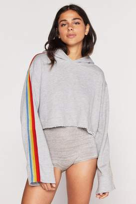 Spiritual Gangster Cropped Rainbow Pullover