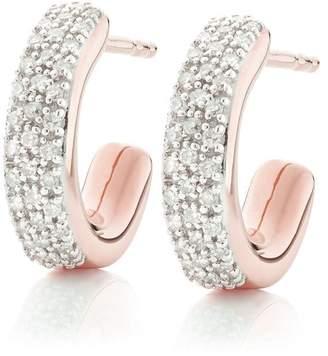 Monica Vinader RP Fiji diamond mini hoop earrings