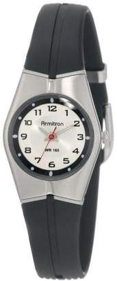 Armitron Sport Unisex 25-6355SIL Black and Silver-Tone Easy to Read Watch