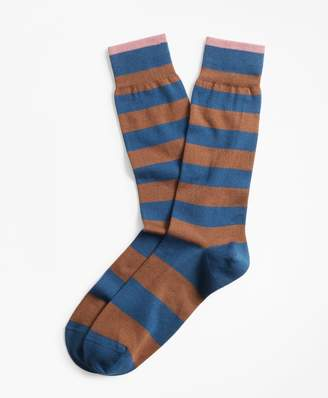 Brooks Brothers Stripe Crew Socks