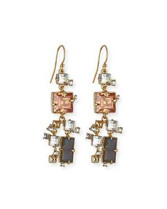 Alexis Bittar Prong-Set Square Crystal Dangle Earrings $225 thestylecure.com