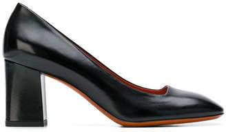 Santoni square toe pumps