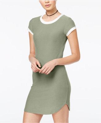 Planet Gold Juniors' Contrast Ringer T-Shirt Dress $29 thestylecure.com