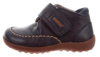 Camper Girls' Logo-Accented Leather Loafers