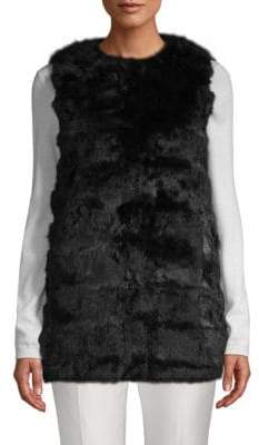 La Fiorentina Collarless Rabbit Fur Vest