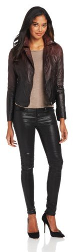 Muu Baa Muubaa Women's Salanzar Ombre Biker Leather Jacket