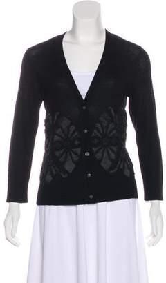 Tory Burch Embellished Merino Wool Cardigan