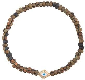 Luis Morais Evil Eye enameled lozenge bracelet