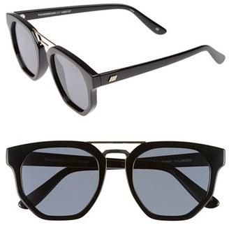Women's Le Specs 'Thunderdome' 52Mm Polarized Sunglasses - Black/ Gold $79 thestylecure.com
