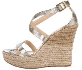 Jimmy Choo Leather Multistrap Wedges