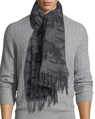 Canada Goose Wool-Blend Camouflage-Print Scarf