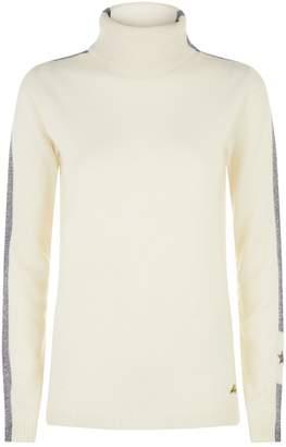 Bella Freud Britt Metallic Side Stripe Sweater