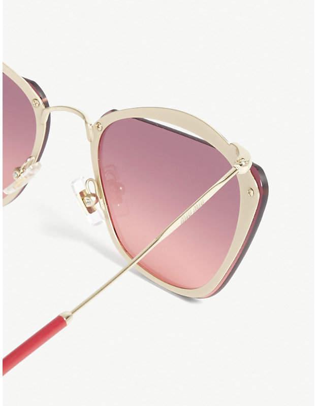 db207e6ffdd Miu Miu Mu54Ts irregular-frame sunglasses detail image