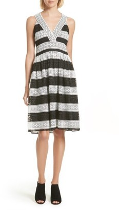 Women's Kate Spade New York Colorblock Lace Sundress $478 thestylecure.com