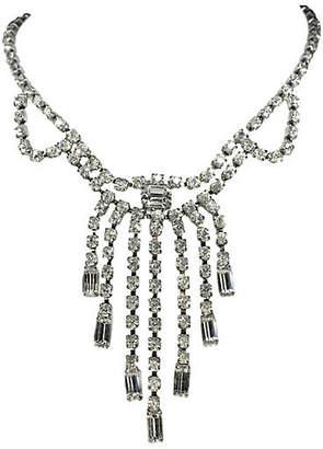 One Kings Lane Vintage Rhinestone Choker Bib Necklace