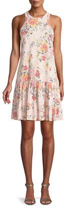 Rebecca Taylor Marlena Sleeveless Floral-Print Jersey Dress