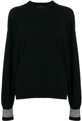 Alexander Wang crystal embellished sweater