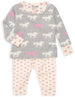 Hatley Baby Girl's Pasture Horses Two-Piece Pajama Set