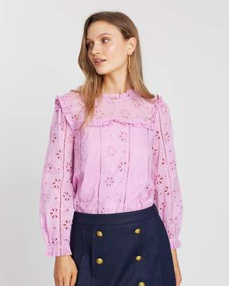 J.Crew Embroidered Eyelet Bash Top