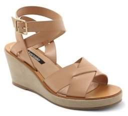 Kensie Venezia Cross-Strap Wedge Sandals