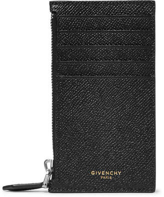 Givenchy Pebble-Grain Leather Zipped Cardholder