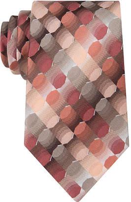 Van Heusen Optical Geo Silk Tie - Extra Long