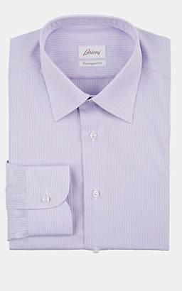 Brioni Men's Pinstriped Cotton Poplin Dress Shirt - Lt. Purple