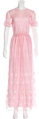 Burberry Short Sleeve Maxi Dress w/ Tags