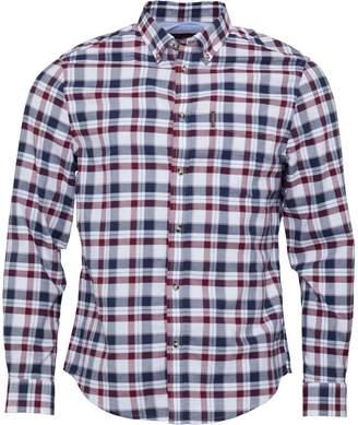 Ben Sherman Long Sleeve Mid Oxford Check Shirt Wine