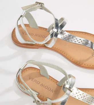 Vero Moda Flat Leather Sandal