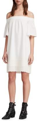 AllSaints Livia Trixi Off the Shoulder Cotton Dress