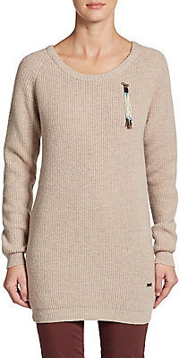 Maison Scotch Wool-Blend Sweater Tunic