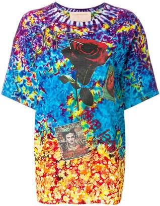 Night Market tie-dye slogan T-shirt
