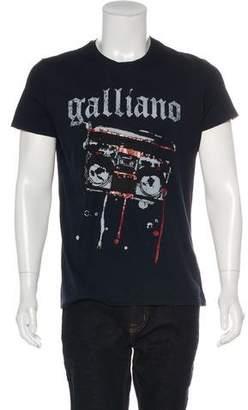 Galliano Printed Short Sleeve T-Shirt