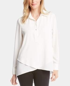 Karen Kane Crossover-Hem Shirt