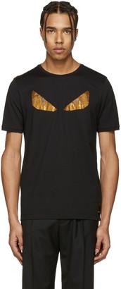 Fendi Black Crystal 'Bag Bug' T-Shirt $545 thestylecure.com