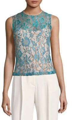 MSGM Floral Lace Tank Top