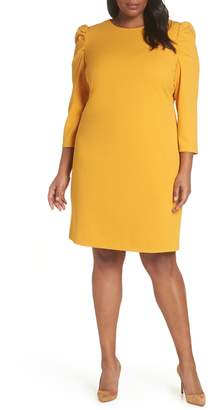 Vince Camuto Puff Shoulder Shift Dress