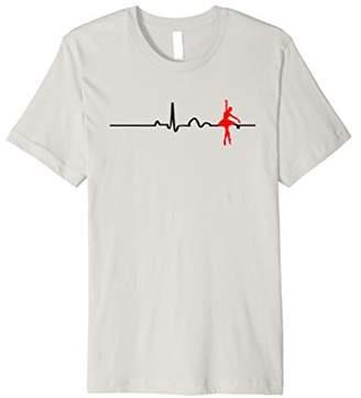 Ballet Heartbeat Ballerina Dancers Novelty Fashion T Shirt