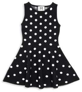 Milly Minis Little Girl's& Girl's Polka-Dot Flare Dress