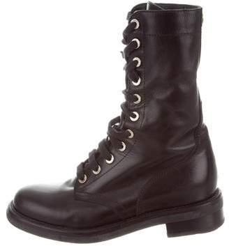 Chanel Paris-Edinburgh Combat Ankle Boots