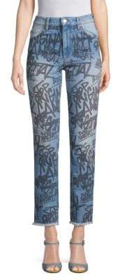 Etoile Isabel Marant Clayton Graffiti Regular-Fit Jeans