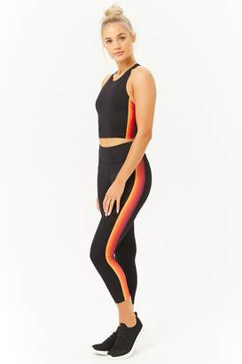 Forever 21 Active Multi-Striped Capri Leggings