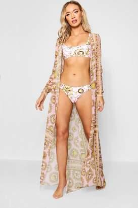 boohoo Daisy Shell Maxi Beach Kimono