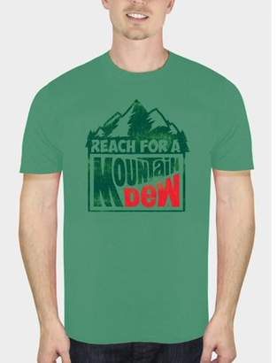 Food & Beverage Mountain Dew Reach For The Dew Men's Heather Green Graphic T-Shirt, up to Size 3XL