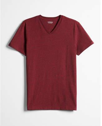 Express heathered flex stretch cotton v-neck tee