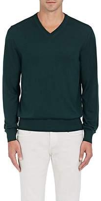 Luciano Barbera Men's Wool-Blend V-Neck Sweater