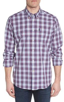 Barbour Leo Trim Fit Plaid Sport Shirt